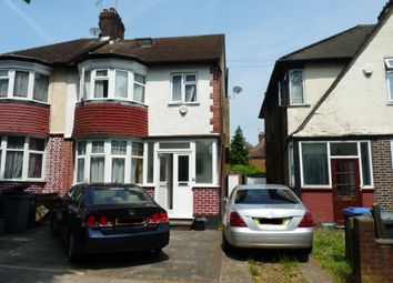 Thumbnail 5 bed semi-detached house to rent in Carlton Avenue East, Wembley