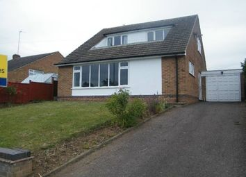 Thumbnail 3 bed bungalow to rent in Valley Road, Loughborough