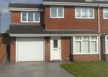 Thumbnail 4 bed semi-detached house for sale in Coningsby Court, Wrexham