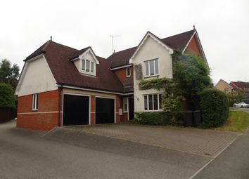 Thumbnail 5 bed detached house to rent in Hazel Rise, Claydon