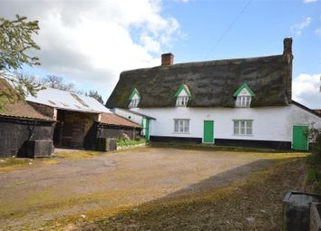 Thumbnail 3 bed farmhouse for sale in Corner Farm, West Carr Road, Attleborough, Norfolk
