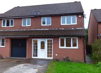 Thumbnail 3 bed semi-detached house for sale in Heol Castel Coety, Litchard, Bridgend
