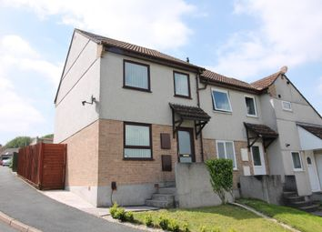 Thumbnail 2 bed semi-detached house for sale in Tregenna Close, Plympton, Plymouth