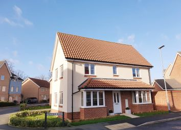 Thumbnail 3 bed detached house for sale in Freesia Way, Cringleford, Norwich