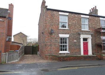Thumbnail 3 bed semi-detached house to rent in Flatgate, Howden, Goole