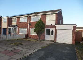 Thumbnail 3 bed semi-detached house to rent in Claverton Close, Runcorn