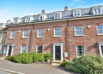 Thumbnail 4 bed town house for sale in Lord Nelson Drive, New Costessey, Norwich