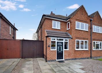 Thumbnail 3 bed semi-detached house for sale in Westfield Avenue, Wigston, Leicester