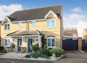 Thumbnail 3 bed semi-detached house for sale in Fox Close, Clapham, Bedford