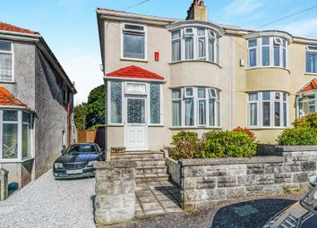 Thumbnail 3 bed semi-detached house for sale in Bickham Road, Higher St Budeaux, Plymouth