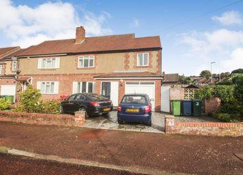 Thumbnail 4 bed semi-detached house for sale in Flexbury Gardens, Harlow Green, Gateshead