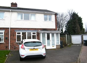 Thumbnail 3 bed semi-detached house to rent in Gayhurst Drive, Birmingham