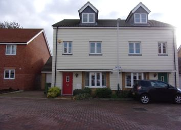 Thumbnail 4 bedroom semi-detached house to rent in Mellowes Road, Hornchurch Essex