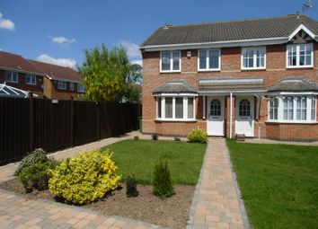 Thumbnail 3 bed semi-detached house for sale in Tristram Close, Leicster