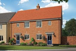 Thumbnail 2 bed semi-detached house for sale in Ashe Road, Tunstall, Woodbridge