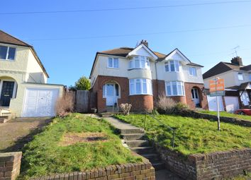Thumbnail 3 bed semi-detached house for sale in Downs Road, Folkestone, Kent