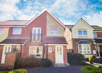 Thumbnail 3 bed semi-detached house for sale in Hudson Walk, Ashington