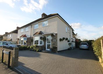 Thumbnail 4 bed semi-detached house for sale in Franklyn Road, Walton-On-Thames