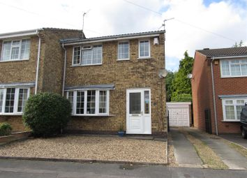 Thumbnail 3 bed semi-detached house for sale in Spinney Halt, Whetstone, Leicester