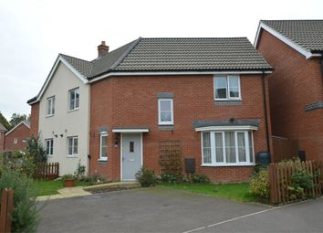 Thumbnail 3 bed semi-detached house for sale in Crossbill Close, Queens Hills, Costessey, Norwich