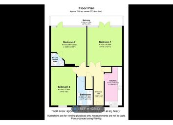 Thumbnail 3 bed flat to rent in Gerry Raffles Square, London