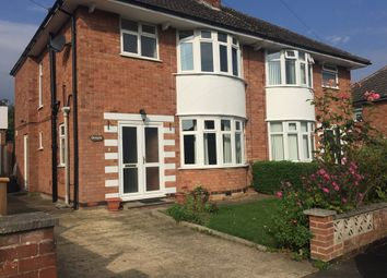 Thumbnail 3 bed semi-detached house to rent in Highcroft Avenue, Oadby, Leicester