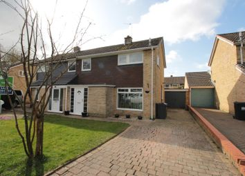 Thumbnail 3 bed semi-detached house for sale in Hunters Close, Hurworth Place, Darlington, Durham