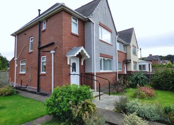Thumbnail 3 bed end terrace house for sale in Goswick Avenue, High Heaton, Newcastle Upon Tyne