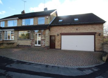 Thumbnail 4 bed semi-detached house for sale in Queensgate Drive, Birstall, Leicester