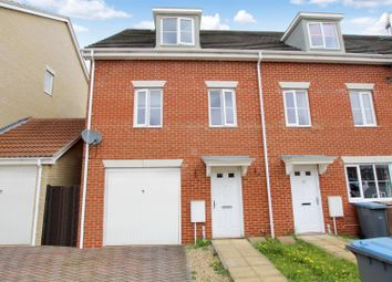 Thumbnail 3 bed town house for sale in Newman Drive, Kesgrave, Ipswich