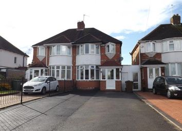 Thumbnail 3 bed semi-detached house for sale in Hobs Moat Road, Solihull, West Midlands