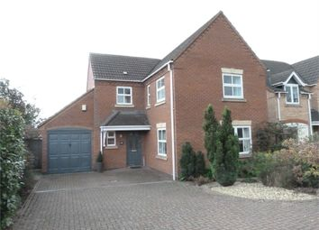 Thumbnail 4 bed detached house for sale in Allfrey Close, Lutterworth