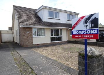 Thumbnail 4 bedroom semi-detached bungalow for sale in Long Acre Drive, Nottage, Porthcawl