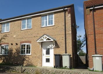 Thumbnail 3 bed semi-detached house for sale in Curtis Drive, Coningsby, Lincoln