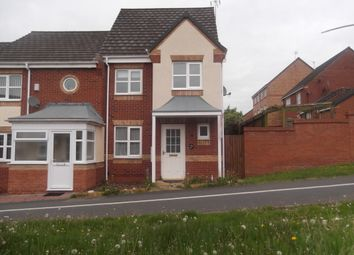 Thumbnail 3 bed end terrace house to rent in Kestrel Lane, Leicester