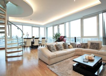 Thumbnail 3 bed flat to rent in Aquarius House, St. George Wharf, London