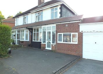 Thumbnail 3 bed semi-detached house for sale in Kedleston Road, Hall Green, Birmingham