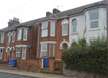 Thumbnail 1 bed terraced house to rent in Foxhall Road, Ipswich
