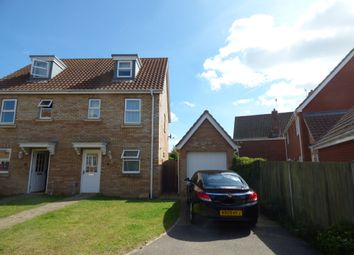 Thumbnail 3 bed semi-detached house to rent in Rushton Drive, Carlton Colville, Lowestoft