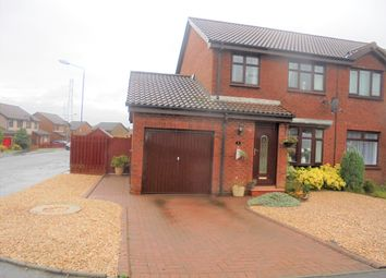 Thumbnail 3 bed semi-detached house for sale in Baillie Fyfe Way Overtown, Wishaw