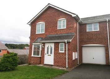 Thumbnail 3 bed link-detached house to rent in Maes Berea, Bangor