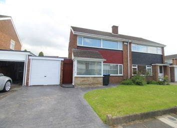 Thumbnail 3 bed semi-detached house for sale in Coxwold Close, Middlesbrough