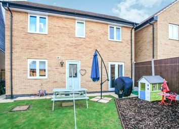 Thumbnail 3 bed detached house for sale in Brooker Avenue, Gunthorpe, Peterborough