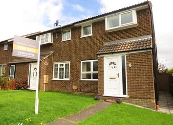 Thumbnail 3 bed end terrace house for sale in Favell Drive, Furzton, Milton Keynes