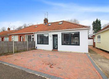 Thumbnail 3 bed semi-detached bungalow for sale in Caston Road, Norwich