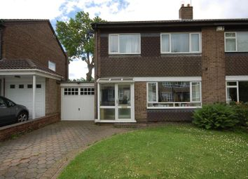 Thumbnail 3 bed semi-detached house for sale in Woodside Crescent, Forest Hall, Newcastle Upon Tyne