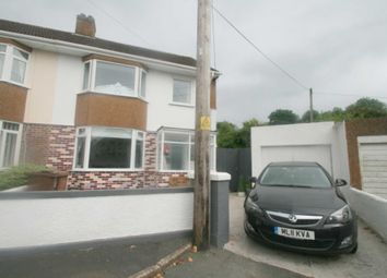 Thumbnail 3 bed semi-detached house for sale in Thornyville Drive, Plymstock, Plymouth