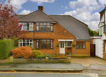 Thumbnail 3 bed semi-detached house for sale in Stoneleigh Park Road, Stoneleigh, Surrey
