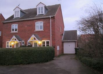 Thumbnail 3 bed semi-detached house to rent in Claricoates Drive, Coddington, Newark