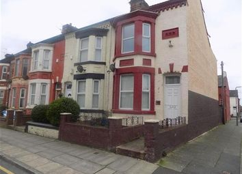 Thumbnail 3 bedroom end terrace house to rent in Delamore Street, Walton, Liverpool